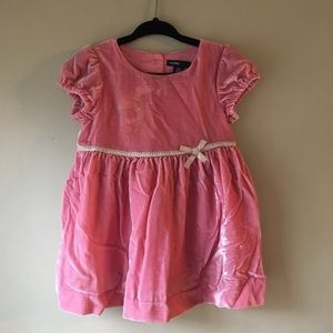 Baby Gap pink velvet baby girls formal dress